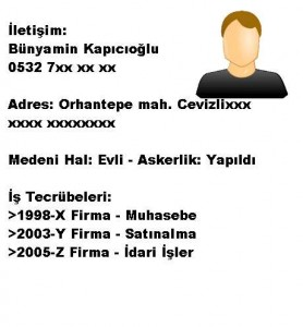 CV-Özgeçmiş