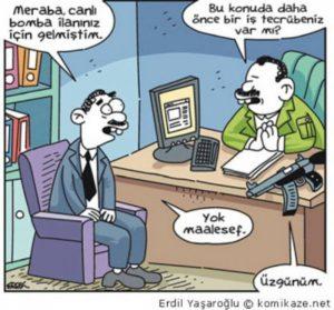 İş görüşmesi karikatür