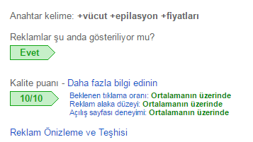 adwords performans
